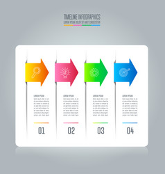 infographic design business concept with 4 options vector image vector image