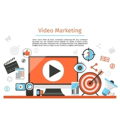 Video marketing Abstract concept vector image vector image