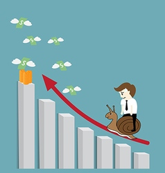 growing graph vector image vector image