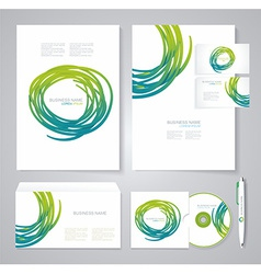 Template for Business artworks Bio style vector image