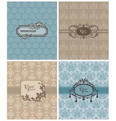 vintage invitation cards vector image vector image