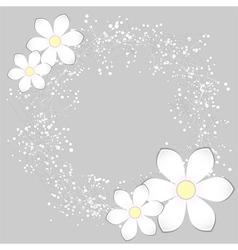 White Paper Flower Card Design vector image vector image