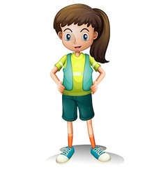 A cute young girl vector image vector image