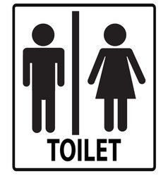 a man and a lady toilet sign toilet sign on vector image vector image