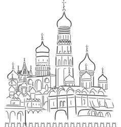 cathedral of saint basil vector image