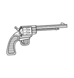 Isolated gun design vector image vector image