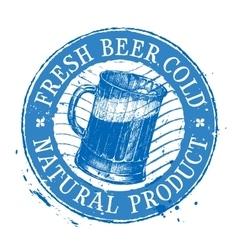 Oktoberfest logo design template Shabby vector image vector image