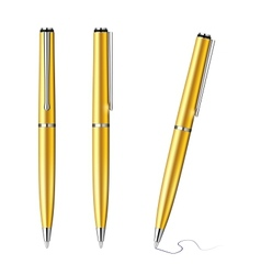 Pen isolated vector image