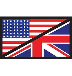 usa uk flag unity1 vector image vector image