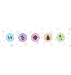24 icons vector