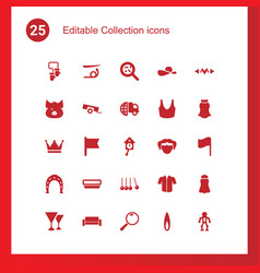 25 collection icons vector