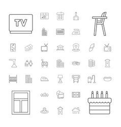 37 home icons vector