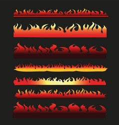 Abstract Fire Frame and Border Line Collection vector image