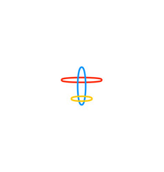 air plane logo vector image