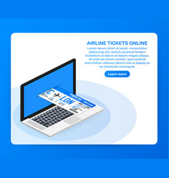 airline tickets online buying or booking online vector image