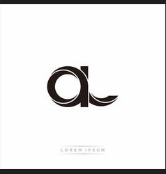 Al initial letter split lowercase modern monogram vector