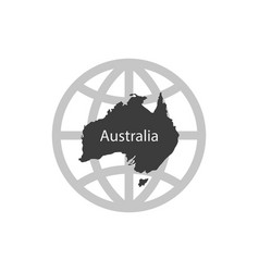 australia icon simple vector image
