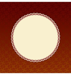 Brown background with beige round label vector