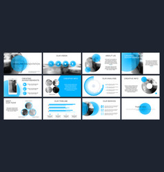 Business presentation templates from infographic vector