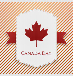 Canada Day national Poster with Ribbon vector image