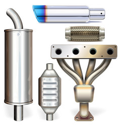 Car muffler parts vector