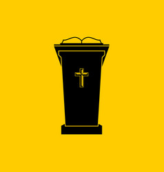 Christian symbols chair preacher vector