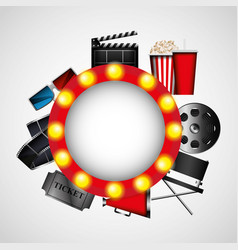 cinema entertainment elements icon vector image