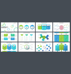 Collection presentation templates vector