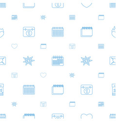 day icons pattern seamless white background vector image