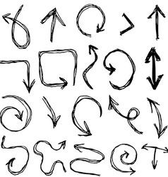 Decorative Hand dravn Sketch Doodle black arrows vector image
