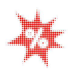 discount boom halftone dotted icon vector image