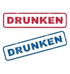 Drunken Rubber Stamps vector