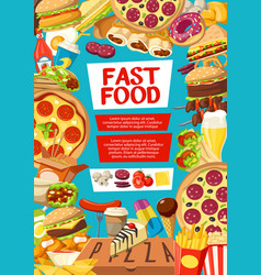 Fast food menu cover for street dishes or desserts vector