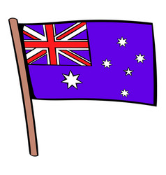 Flag of australia icon cartoon vector