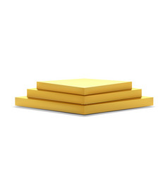 golden podium steps isolated on white 3d vector image