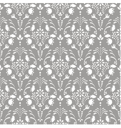 gray damask floral seamless pattern vector image