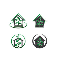 Green house - set vector
