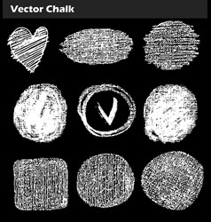 hand drawn chalk circle frames vector image