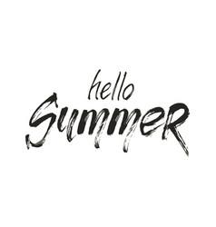 Hello summer wording vector