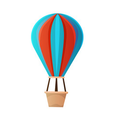 hot ait balloon icon vector image