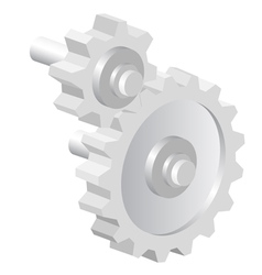 Industrial icon big steel gear vector image