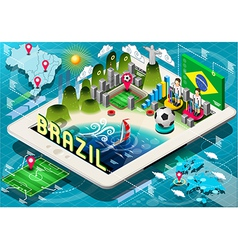 infographic brazil on tablet vector image