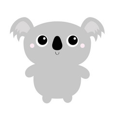 koala bear toy icon cute cartoon character kawaii vector image