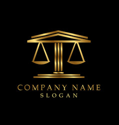 lawyer logotype black background vector image
