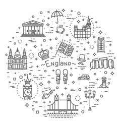 London icons set england thin line design vector