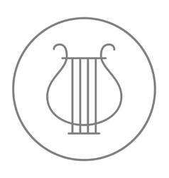 Lyre line icon vector image