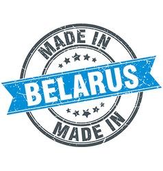 Made in Belarus blue round vintage stamp vector