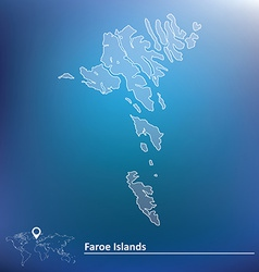 Map of Faroe Islands vector image