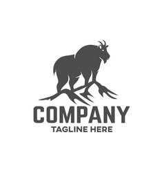 modern mountain goat logo vector image
