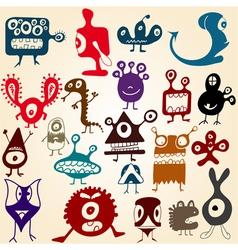 Monsters set vector
